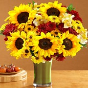 Deluxe Fall Sunflowers